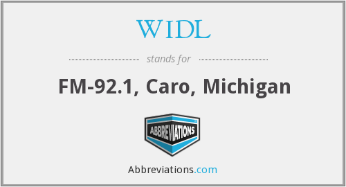 What does WIDL stand for?
