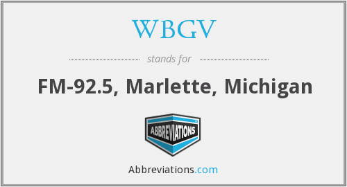 What does WBGV stand for?