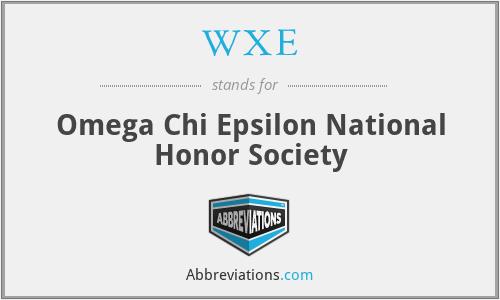 WXE - Omega Chi Epsilon National Honor Society