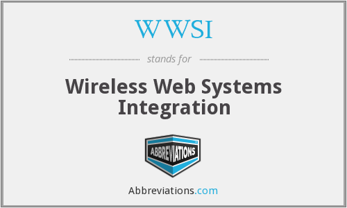 What does WWSI stand for?