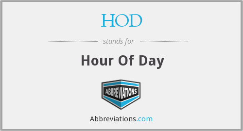 HOD - Hour Of Day