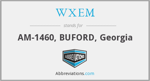 What does WXEM stand for?