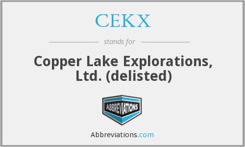 What does CEKX stand for?