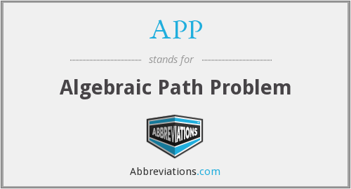 APP - Algebraic Path Problem