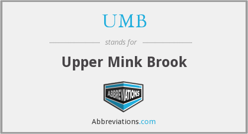 UMB - Upper Mink Brook
