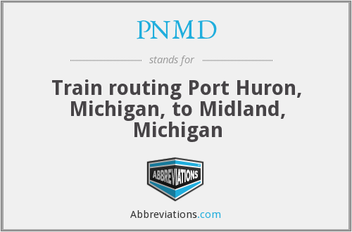 PNMD - Train routing Port Huron, Michigan, to Midland, Michigan