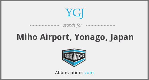 YGJ - Miho Airport, Yonago, Japan