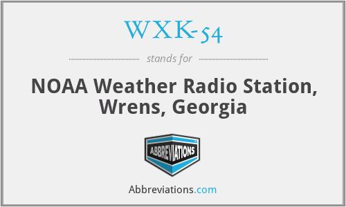 WXK-54 - NOAA Weather Radio Station, Wrens, Georgia