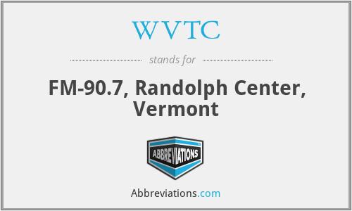 WVTC - FM-90.7, Randolph Center, Vermont