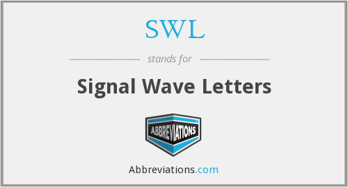 SWL - A Signal Wave Letters
