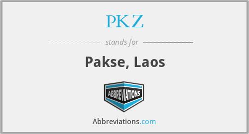 PKZ - Pakse, Laos