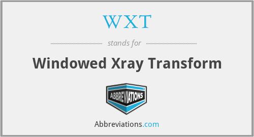 WXT - Windowed Xray Transform