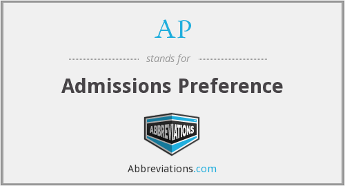 AP - Admissions Preference