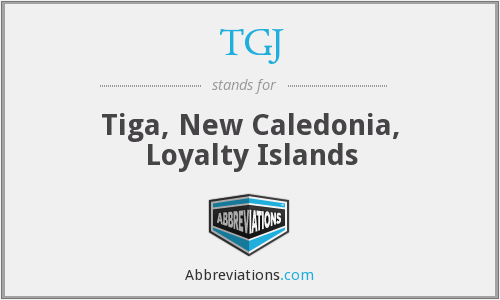 TGJ - Tiga, New Caledonia, Loyalty Islands