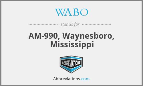 WABO - AM-990, Waynesboro, Mississippi