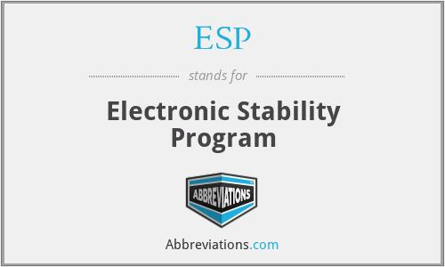 ESP - Electronic Stability Program