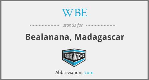 WBE - Bealanana, Madagascar