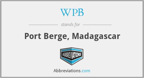 WPB - Port Berge, Madagascar