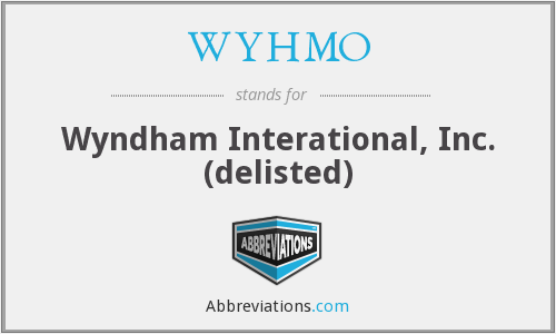 WYHMO - Wyndham Interational, Inc. (delisted)