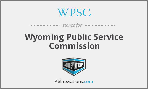 WPSC - Wyoming Public Service Commission