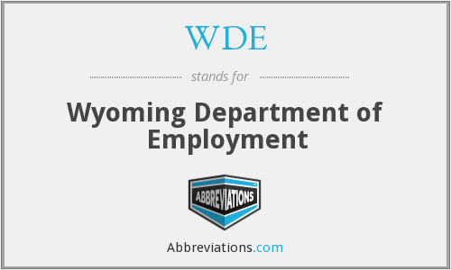 WDE - Wyoming Department of Employment