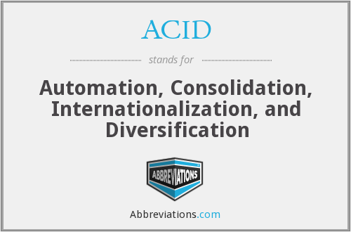 ACID - Automation, Consolidation, Internationalization, and Diversification