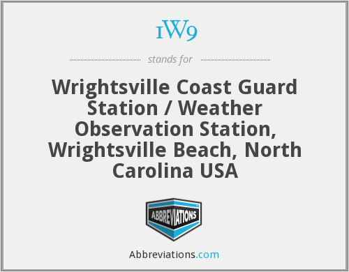 1W9 - Wrightsville Coast Guard Station / Weather Observation Station, Wrightsville Beach, North Carolina USA
