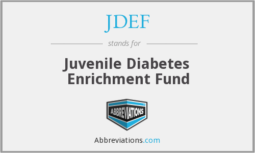 JDEF - Juvenile Diabetes Enrichment Fund