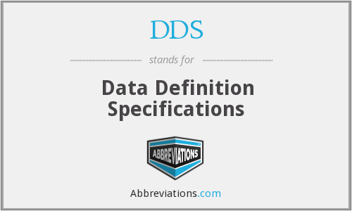 DDS - Data Definition Specifications