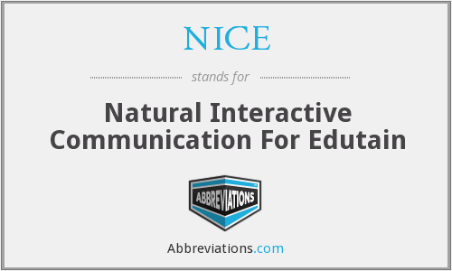 NICE - Natural Interactive Communication For Edutain