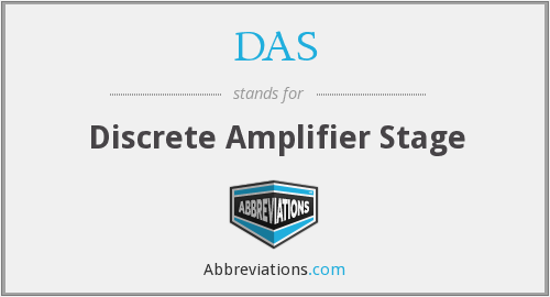 DAS - Discrete Amplifier Stage