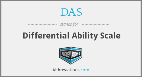 DAS - Differential Ability Scale