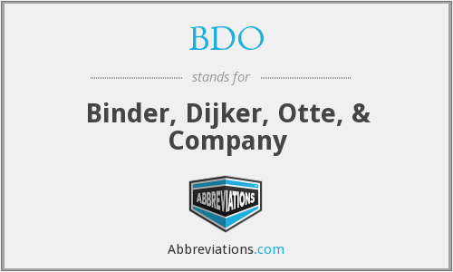 BDO - Binder, Dijker, Otte, & Company