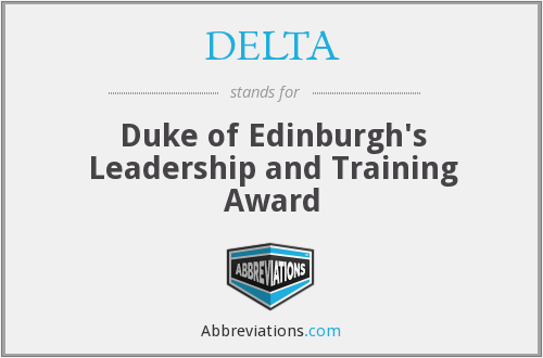 DELTA - Duke of Edinburgh's Leadership and Training Award