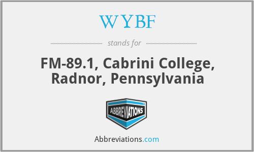 WYBF - FM-89.1, Cabrini College, Radnor, Pennsylvania