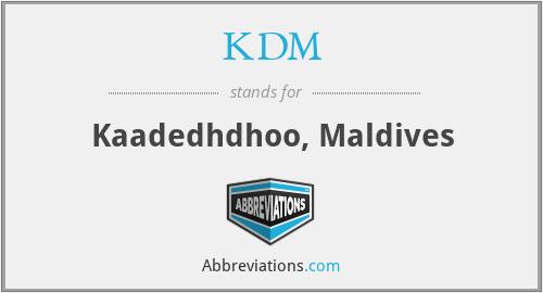 KDM - Kaadedhdhoo, Maldives