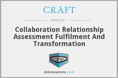 CRAFT - Collaboration Relationship Assessment Fulfilment And Transformation
