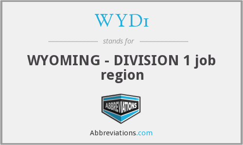 WYD1 - WYOMING - DIVISION 1 job region