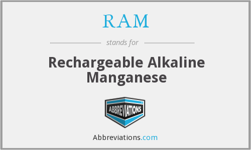 RAM - Rechargeable Alkaline Manganese