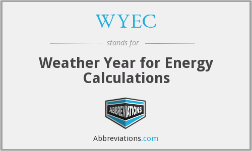 WYEC - Weather Year for Energy Calculations