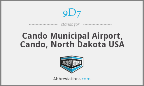 9D7 - Cando Municipal Airport, Cando, North Dakota USA