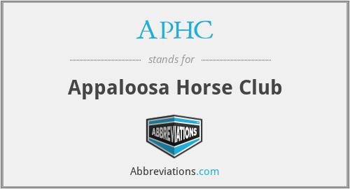 APHC - Appaloosa Horse Club