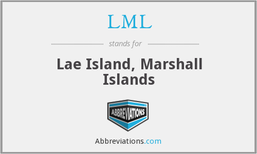 LML - Lae Island, Marshall Islands