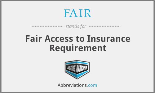 FAIR - Fair Access to Insurance Requirement