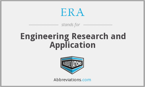 ERA - Engineering Research and Application