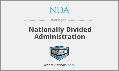NDA - Nationally Divided Administration