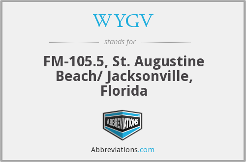 WYGV - FM-105.5, St. Augustine Beach/ Jacksonville, Florida