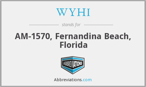 WYHI - AM-1570, Fernandina Beach, Florida