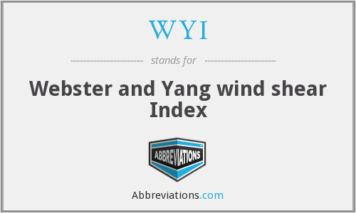 WYI - Webster and Yang wind shear Index