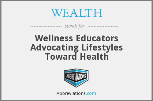 WEALTH - Wellness Educators Advocating Lifestyles Toward Health